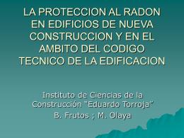 LA PROTECCION AL RADON EN EDIFICIOS DE