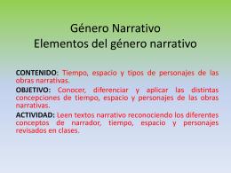 Elementos del Género Narrativo.