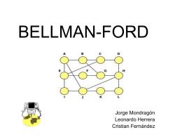 BellMan Ford Animación - upcAnalisisAlgoritmos