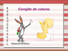 Conejito de colores