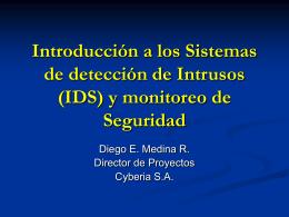 Introducción a los Sistemas de detección de Intrusos (IDS) y