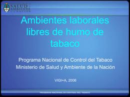 Programa Nacional para el Control del Tabaco