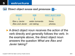 Choose the correct direct object pronoun for - Crest Ridge R-VII