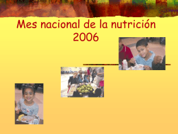 NATIONAL NUTRITION MONTH 2004