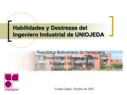 Habilidades y Destrezas del Ingeniero Industrial