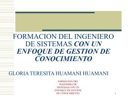 FORMACION DEL INGENIERO DE SISTEMAS CON UN