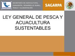ley general de pesca y acuacultura sustentables
