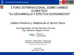 Cambio Climático y Adaptación al Sector Pesca Expositor Antonio