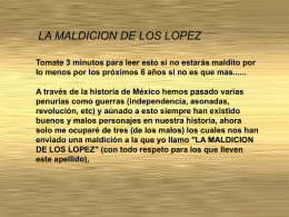 Maldición de los López - Reportajes Metropolitanos