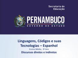 LÍNGUA ESPANHOLA, 3º Ano do Ensino Médio Discurso