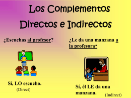 Direct.Indirect Objects - DouglasCountyForeignLanguage