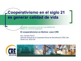 Presentación - Alianza Cooperativa Internacional en las Américas