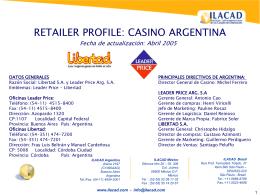 Grupo Casino en América Latina Histórico de Casino en