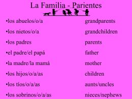 La Familia - Parientes
