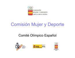 Comisión Mujer y Deporte - Consejo Superior de Deportes