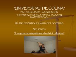 Chihuahua - Universidad de Colima