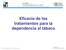 Eficacia de los tratamientos para la dependencia