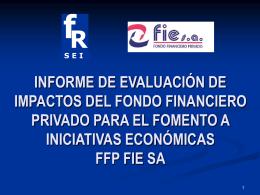 INFORME EVALUACIÓN DE IMPACTO DE LA