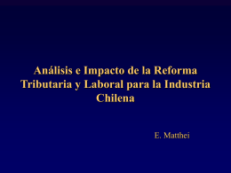 Análisis e Impacto de la Reforma Tributaria y Laboral para