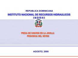 Fuente: Diagnóstico Plan Hidrológico Nacional, INDRHI 2007 2