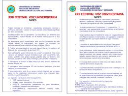 xxii festival voz universitaria - Universidad de Oriente