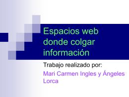 Espacios web donde colgar información