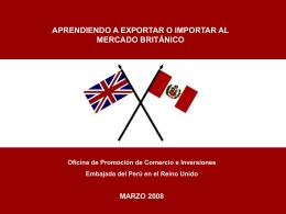 Aprenda exportar productos peruanos al Reino Unido