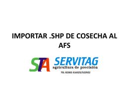 IMPORTAR .SHP DE COSECHA AL AFS