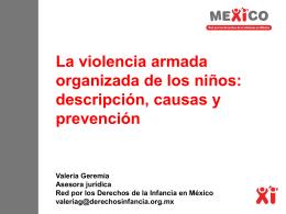 La violencia armada organizada de los niños