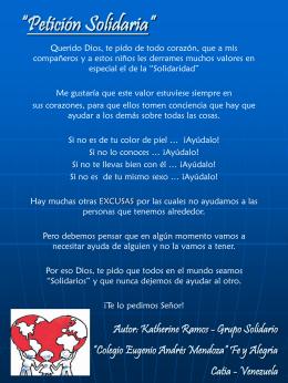"""""""Petición Solidaria"""""""