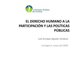 El derecho humano a la participación y las políticas públicas