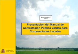 Presentación del Manual de Compras Públicas Verdes
