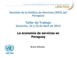 Sesión 1: La economía de servicios en Paraguay