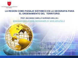La región como paisaje sistemático en la geografía para el