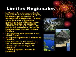 Generalidades IX Region de la Araucania