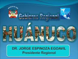 Gobierno Regional Huánuco