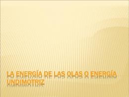 Energia olas - Tecnoindustrialcharo