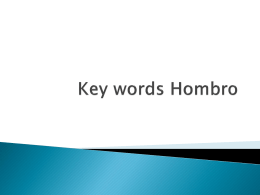 Key words Hombro