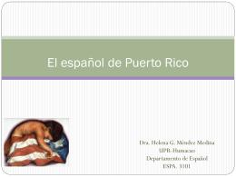El español de Puerto Rico historia y presente