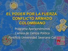 Descargar presentación - Pontificia Universidad Javeriana, Cali