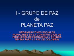 PRESENTACIÓN TALLERES GRUPO DE PAZ