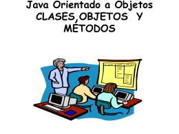 Java Orientado a Objetos CLASES,OBJETOS Y MÉTODOS