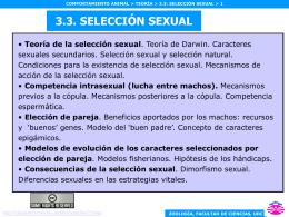 Consecuencias de la selección sexual