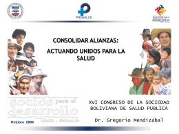 consolidar alianzas: actuando unidos para la salud
