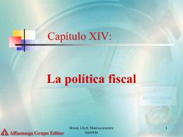Capítulo XIV: La política Fiscal