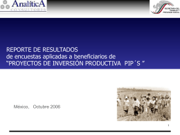 Reporte de Resultados de encuestas aplicadas a beneficiarios de