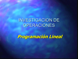 Análisis de los Modelos de programación Lineal