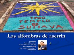 Las alfombras de aserrín en Nicaragua - WCU Virtual Locker