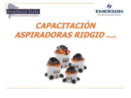 capacitación aspiradoras ridgid