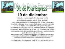 """19 de diciembre, sera el Dia de """"Polar Express""""."""